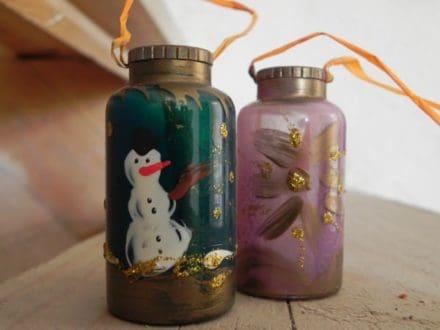 Christmas Ornament On Medication Bottle