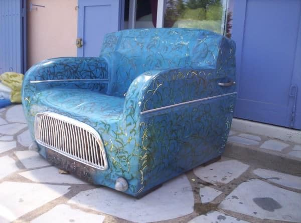 Renault 4l Club Armchair Mechanic & Friends Recycled Furniture
