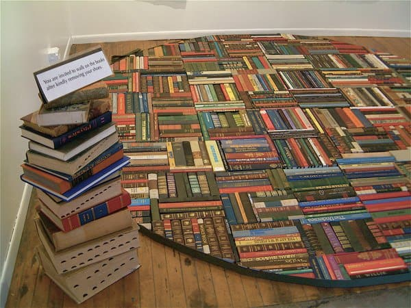 Bibliophilism in art  with Recycled Art Paper & Books Books