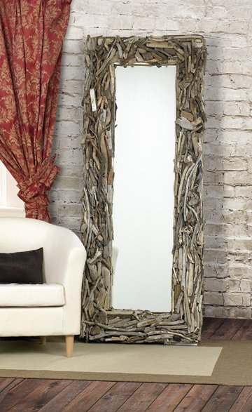 22x50 FloorMirror Eco Friendly Driftwood Mirrors
