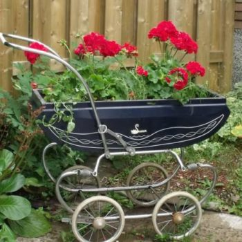 New life for a vintage baby carriage