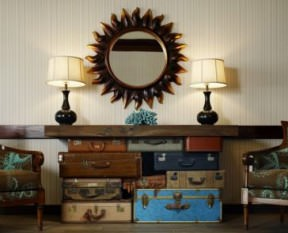Vintage suitcases furnitures