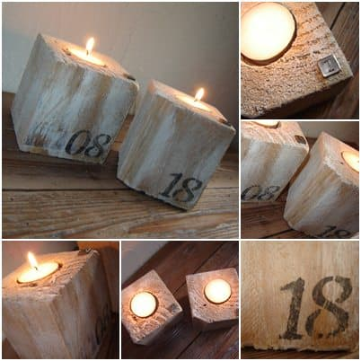 Pallet candle jar decoration in wood pallets 2 accessories  with Pallets Decoration