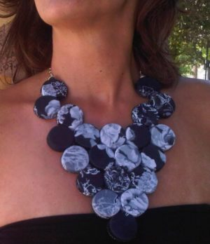 Necklace made from plastic bottles