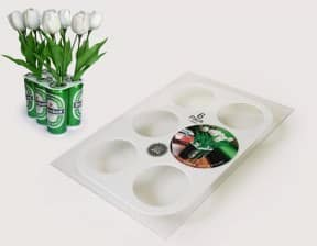 6pack vase