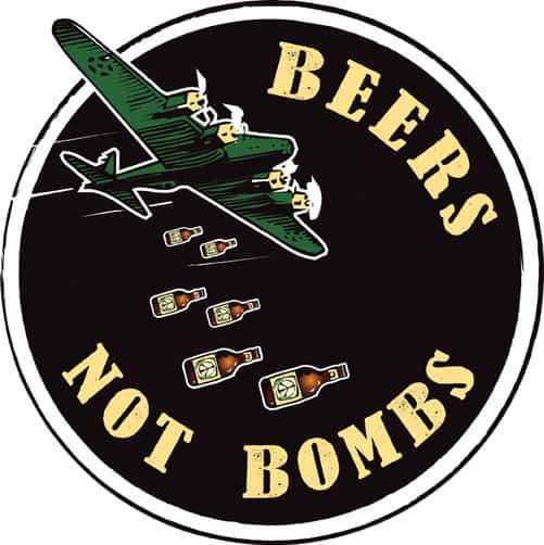 Beers Not Bombs! Made from disarmed & recycled nuclear weapons systems in metals accessories  with copper