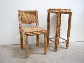 Cork Chair and Side Table