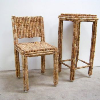 Cork Chair & Side Table