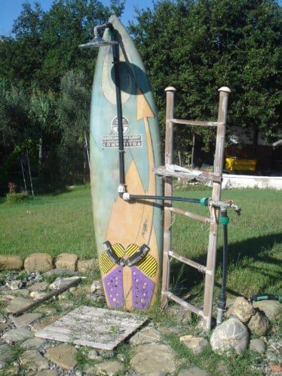 Garden shower for surfers