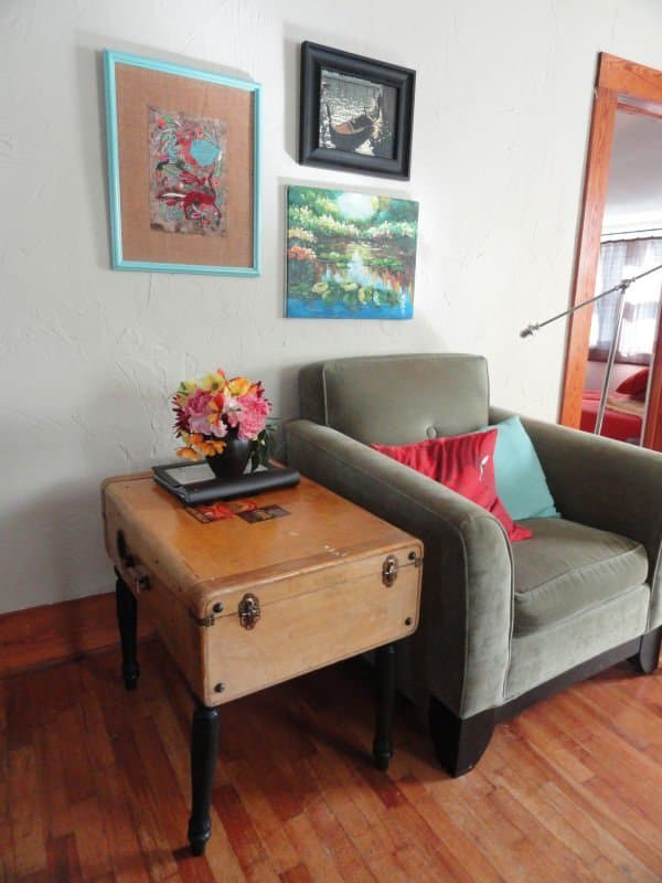 Upcycled Vintage Suitcase Into Side Table Recycled Furniture