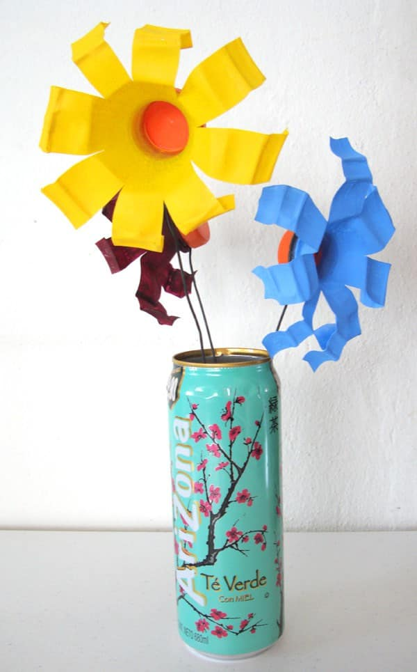 Upcycled Gatorade flowers Accessories Recycled Plastic