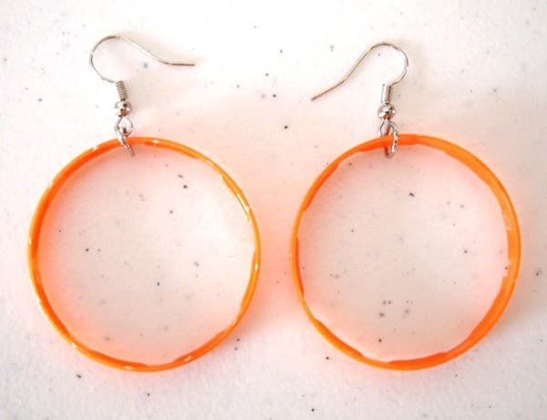 Cap Earrings Accessories Recycled Plastic Upcycled Jewelry Ideas