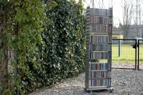 A CD rack from treadplate