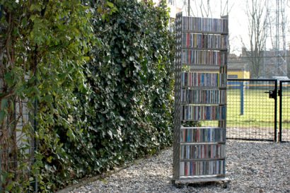 A CD rack from treadplate