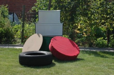Castrol barrel chair