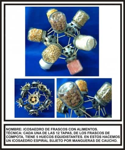 Polyhedra made with waste