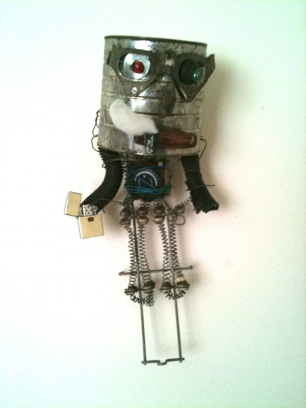 (Henry) Lost then found out sculpture in art metals diy  with Sculpture Recycled Art