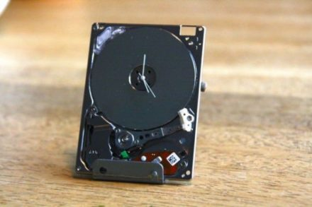 A smaller hard drive clock….