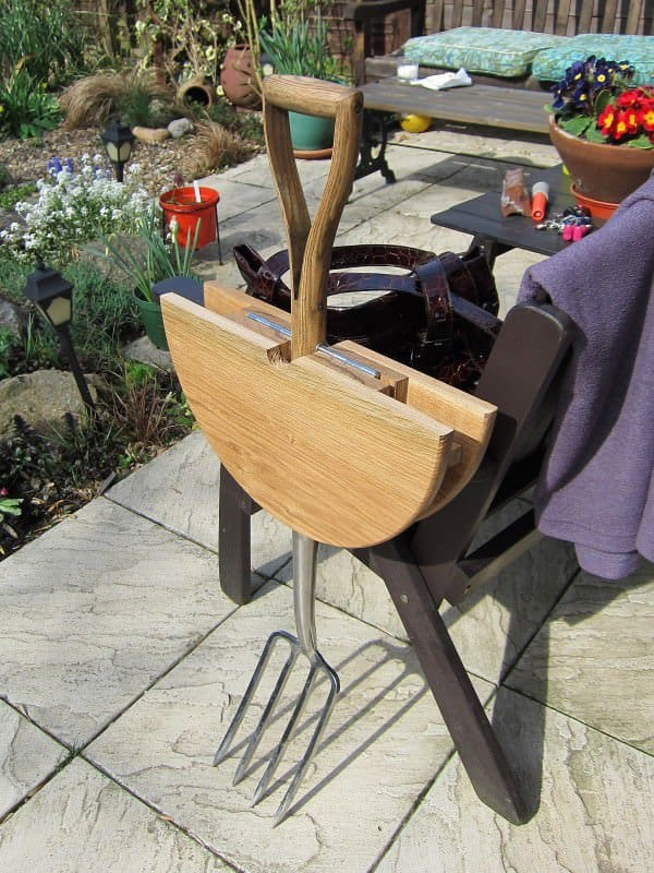 Garden Fork Table in furniture  with Table Reused Repurposed Garden Furniture