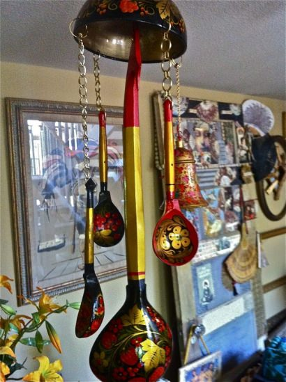 Recycled found objects wind chimes