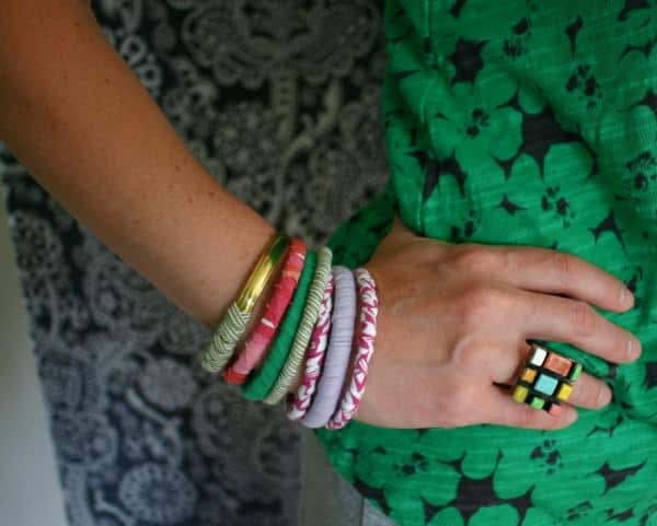 T-shirt Bracelets Accessories Do-It-Yourself Ideas Upcycled Jewelry Ideas