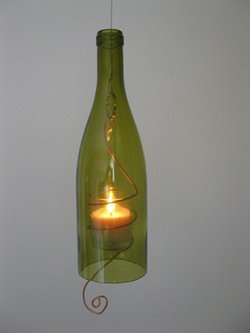 Hanging Wine Bottle Candles
