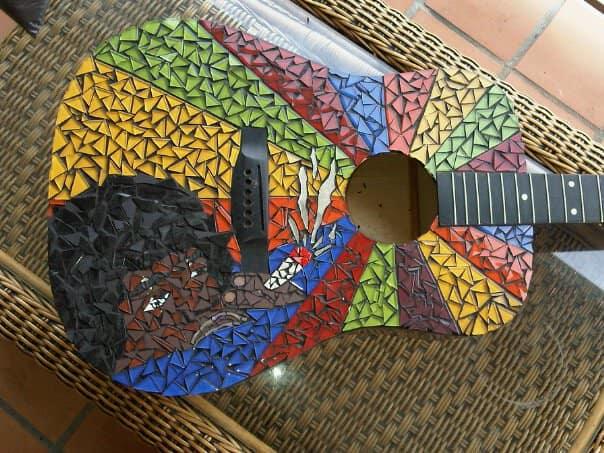 Jimi Hendrix Mosaic Recycled Art