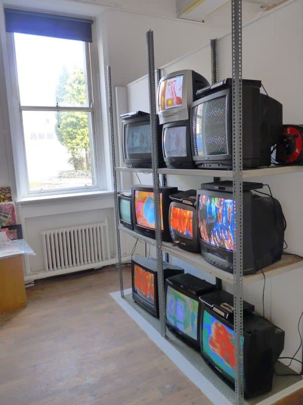 Old tv installation Recycled Art