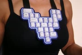 Keyboard Beaded Necklaces