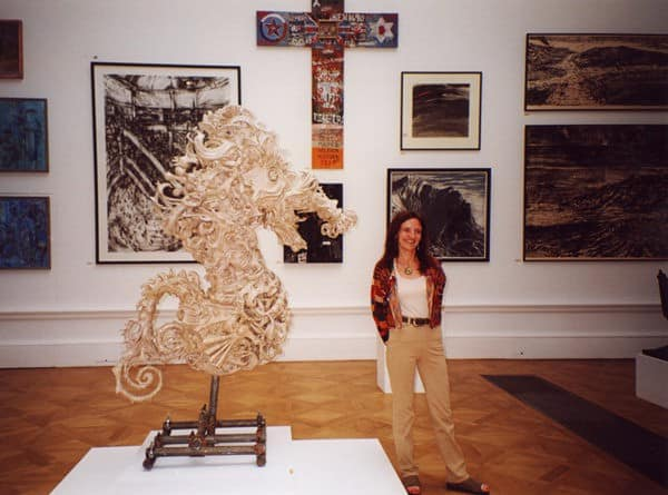 The Seahorse Sculpture   The Worlds Most Complex Papier mache Sculpture in art paper  with Sculpture Recycled Art Paper mache Ocean