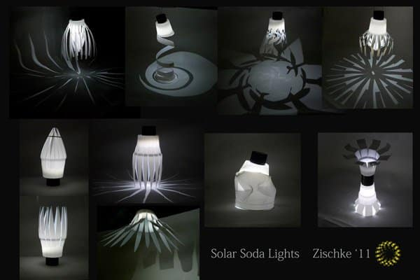 Solar Soda Lights in plastics packagings lights  with Repurposed