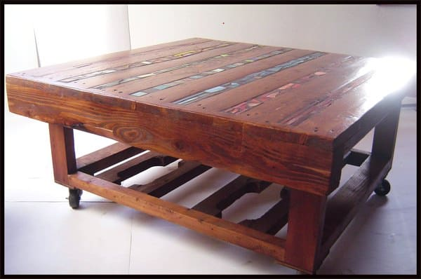 Coffee Table of Wooden Pallets in wood furniture pallets 2  with upcycled furniture Table Recycled Art Recycled Pallets organic