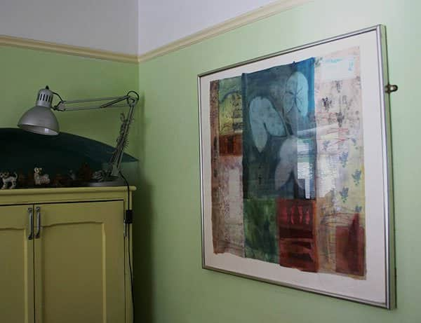 artwork in interiors2 The Found Object in Textile Art in fabric art  with Textile Recycled Found object environment