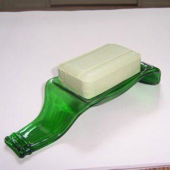 Beer bottle soap dish