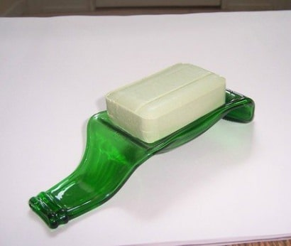 Beer bottle soap dish
