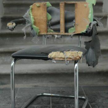 Chair made from bike inner tubes