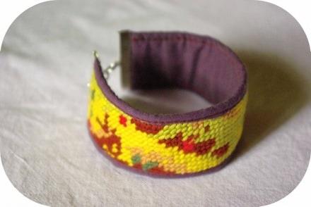 Canvas bracelet
