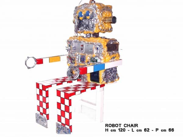 bukton art 011 Robot chair in electronics art  with Recycled Electronic Computer Chair 