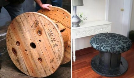 Cable spool stool (an how to do it yourself)