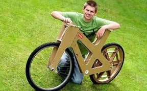 Cardboard bike