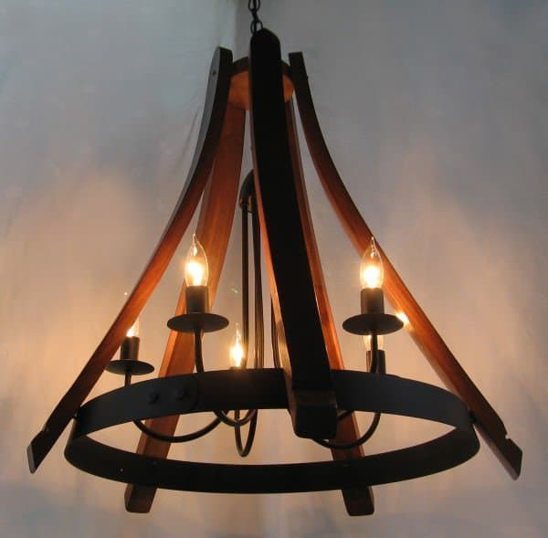 Cervantes Chandelier From Recycled Oak Wine Barrel Recycled Furniture Wood & Organic