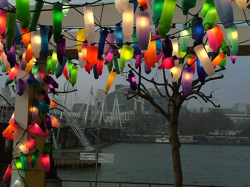 Colorful lights Interactive, Happening & Street Art Lamps & Lights Recycled Plastic