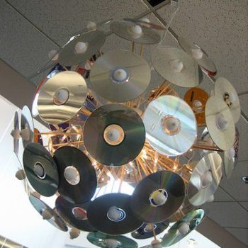 Disco ball made from CDs