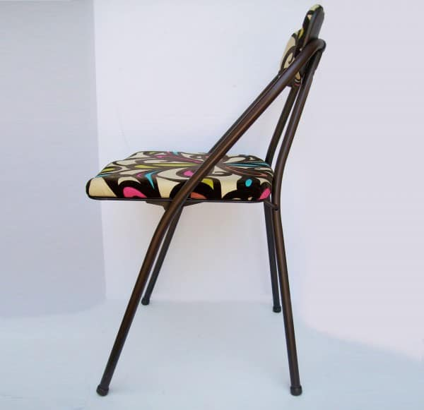 foldingchair2 Vintage Folding Chair Refreshed in furniture with Upcycled Metal Fabric Chair