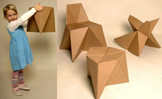 Diy, Cardboard Furniture for Kids Do-It-Yourself Ideas Recycled Cardboard