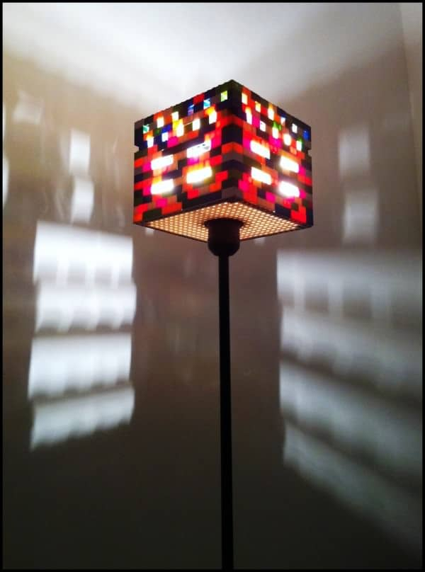 Lamp Ole Kirk in lights  with Light lego Lamp brick