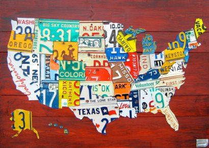 License Plate Art & Maps
