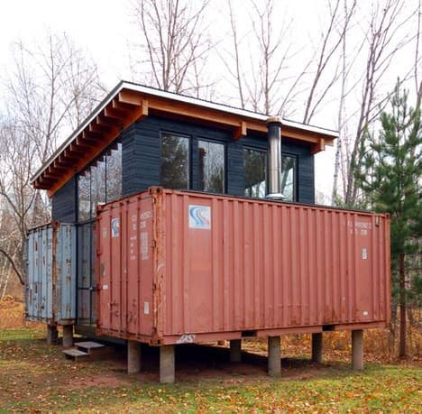 Container cabin in architecture  with Container
