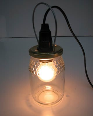 Light with Jar of Jam Do-It-Yourself Ideas Lamps & Lights