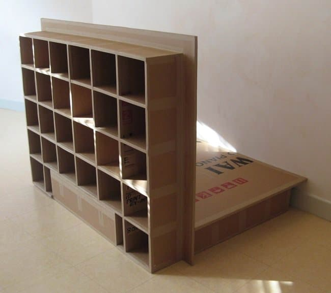 A Carboard Bed (Futon Spirit) Recycled Cardboard Recycled Furniture